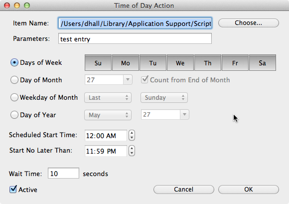 Time of Day Action Panel for Scriipt Timer