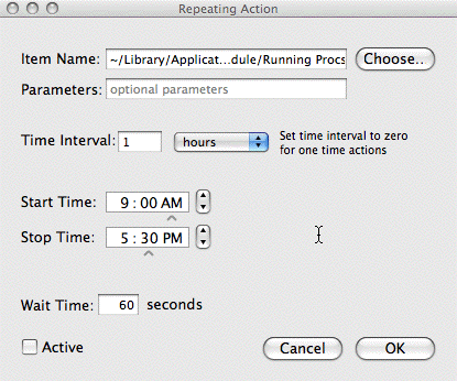 Script Timer Repeating Action Panel