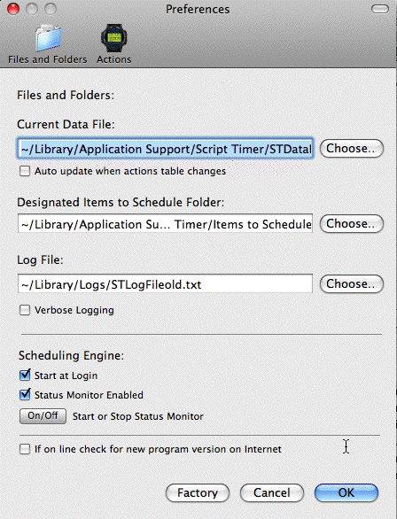 Script Timer Preferences Panel (Files and Folders)